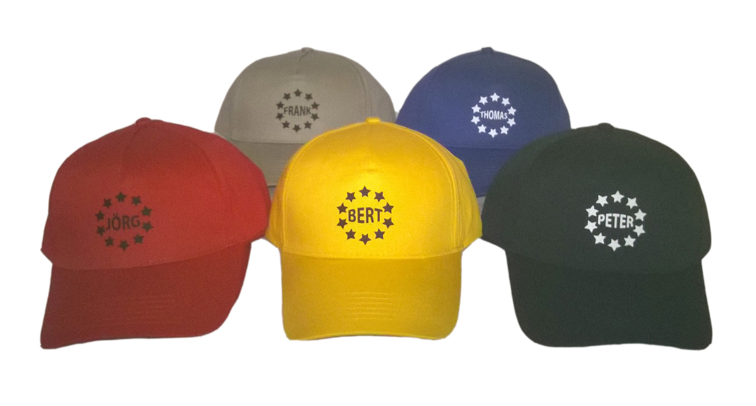 Baseball Caps mit Namen